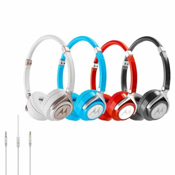Audifonos Motorola Pulse 2 entrada auxiliar 3,5-colores