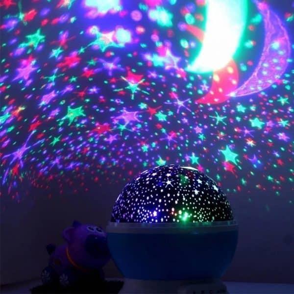 Lámpara de proyección principal de estrella del cielo estrellado, espanta cuco-5