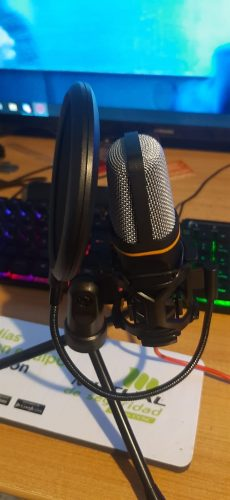 Kit Micrófono Condensador Andowl QY-K222 photo review