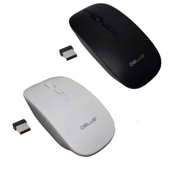 Mouse Inalámbrico óptico ergonómico 4D 2.4 GHZ 1000 DPI USB