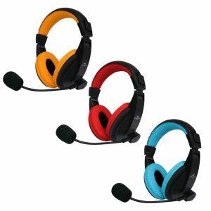 Audífonos Gamer Monster Games 29MTG550, con Micrófono, conexión 3.5 Stereo (PS4, SWITCH, ONE, PC)