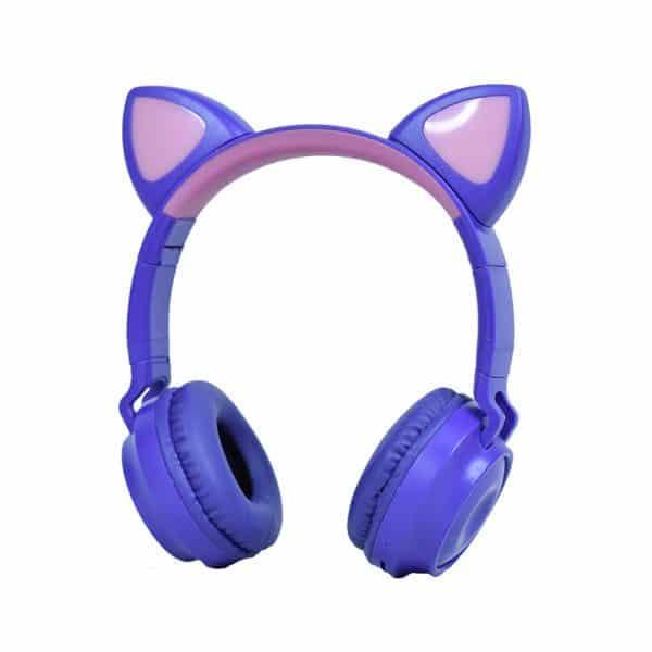 Audífono Inalámbrico Cat Ear, RGB (Orejas de Gato con Luces, ZW-028)-00