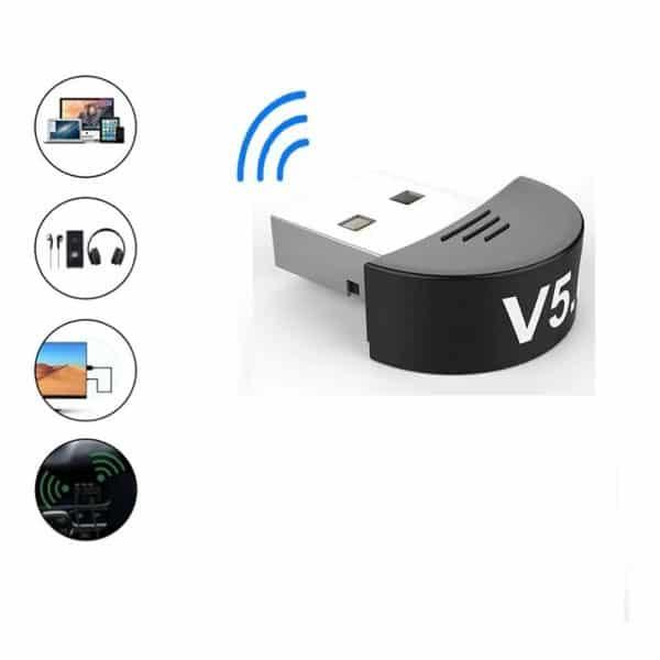 Adaptador Receptor Mini USB Bluetooth 5.0 para Pc Notebook-1