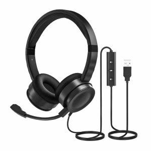 Audífono Uhuru HS-391 con micrófono, conexión USB
