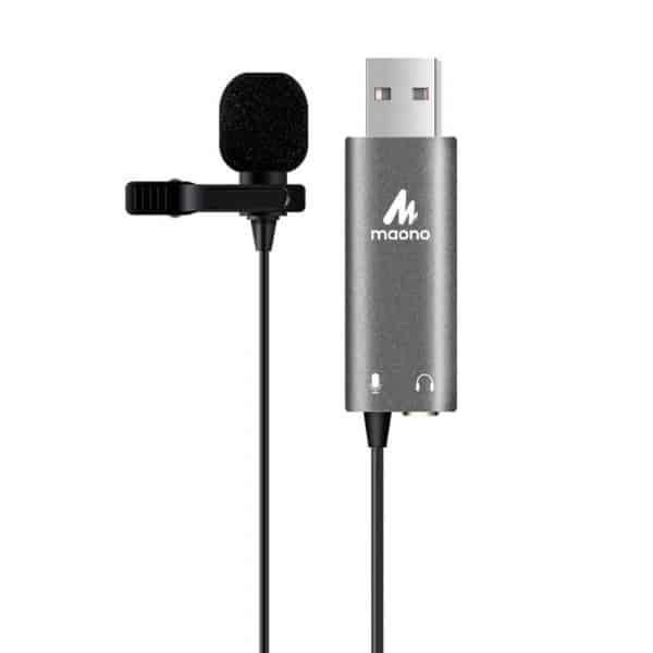 Micrófono de Solapa MAONO AU-UL20 (Tarjeta de Sonido) - USB