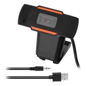Webcam Cámara con micrófono y soporte para pantalla, conexión plug y USB - 07958