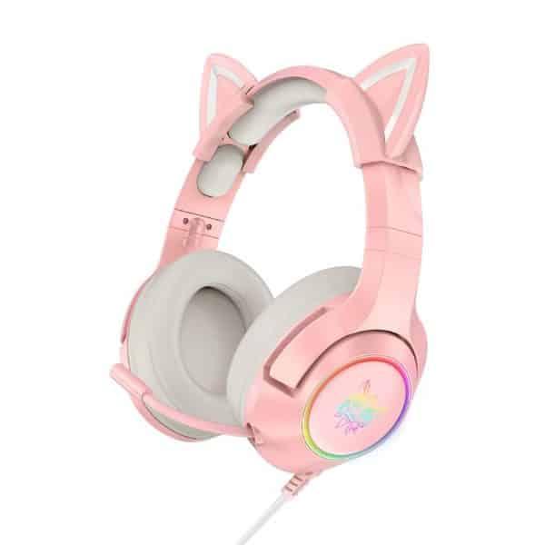 Audífonos Onikuma K9 RGB, Orejas de Gato extraíbles, Micrófono