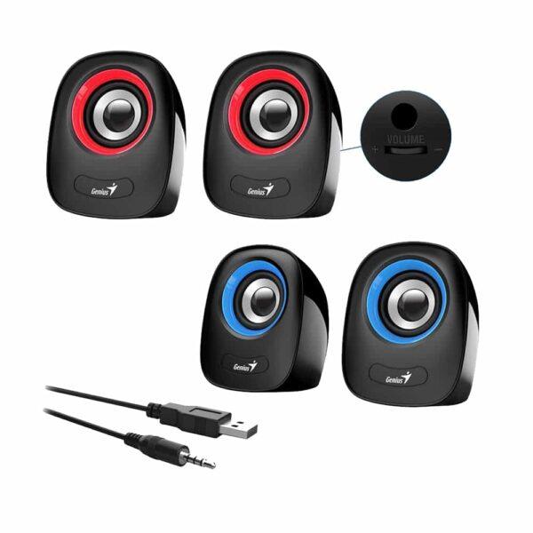 Parlantes Multimedia Genius SP-Q160 (2.0, 6W, 3.5mm + USB)