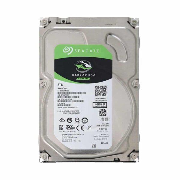 """Disco duro Seagate BarraCuda de 3TB (SATA, 5400rpm, Formato 3.5"""", Cache 256mb)"""