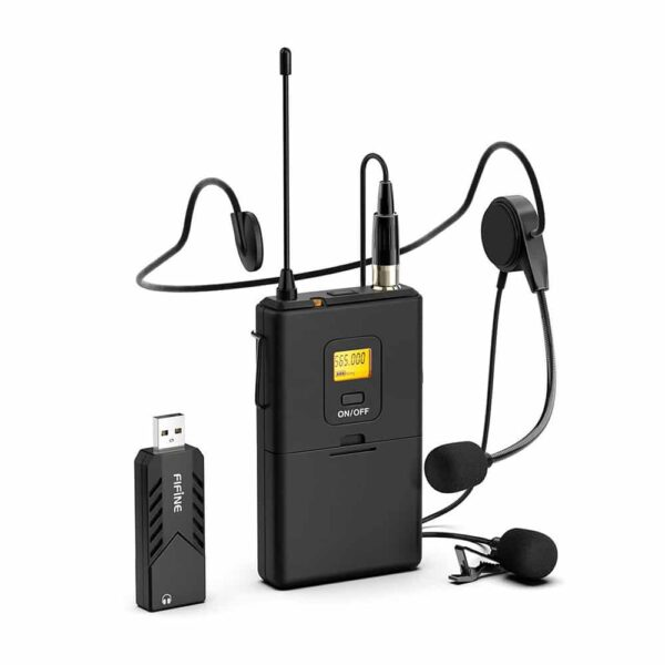 Micrófono Inalámbrico Fifine K031B, USB con Solapa Lavalier