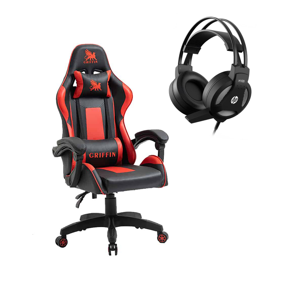 Cyber Pack Silla Gamer Ultimate Griffin + Audífonos HP H100