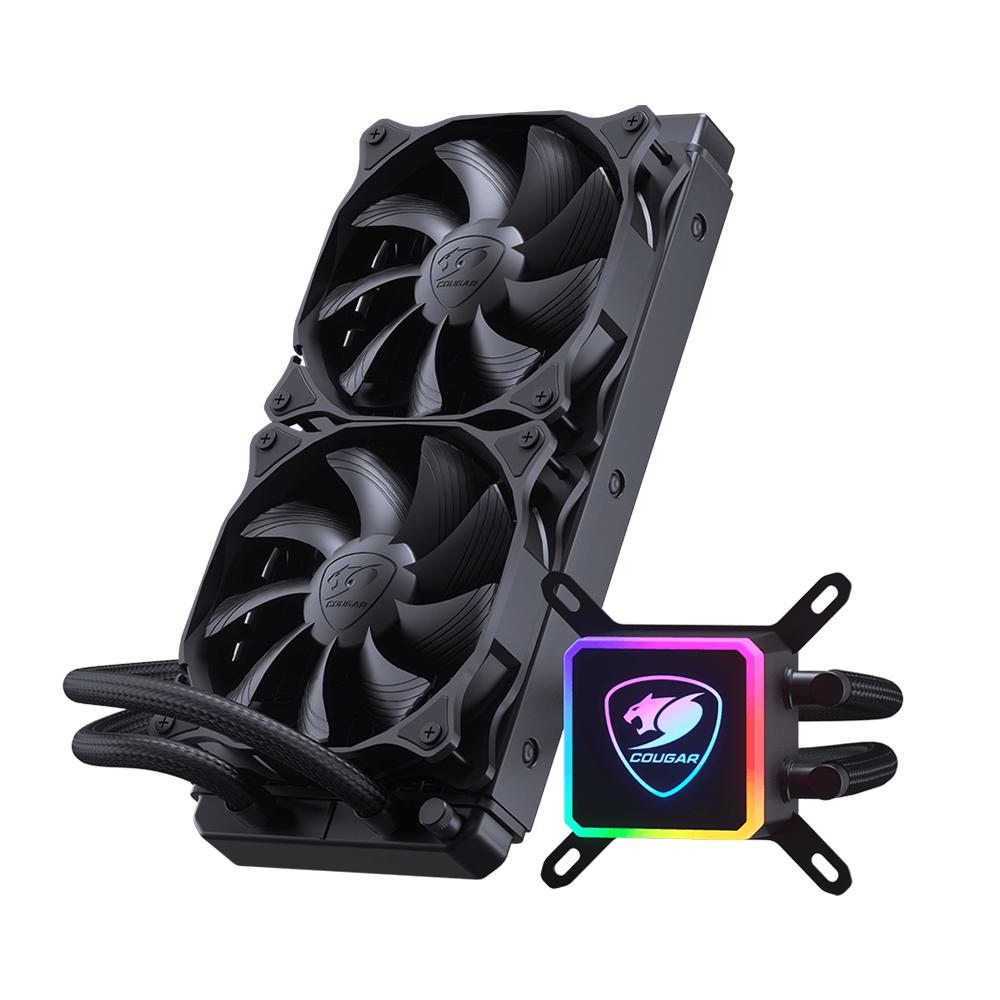 Refrigeración Líquida Cougar Aqua 240 (Bomba RGB, Control Remoto, Intel-AMD)